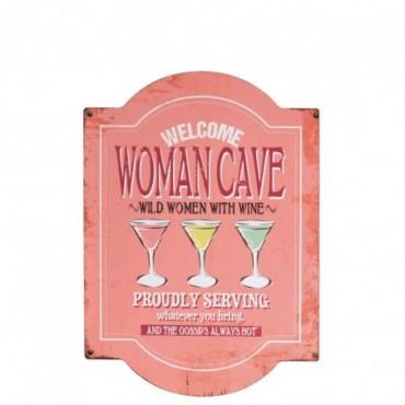 Pancarte Women Cave Metal Rose