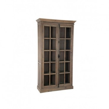 Vitrine 4 Planches Bois Metal Naturel