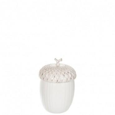Pot A Provision Noisette Ceramique Creme Large