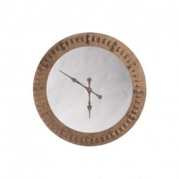 Horloge + Miroir Bois Naturel Taille L
