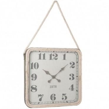 Horloge Carree Corde Metal Gris Taille L
