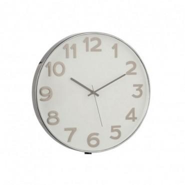 Horloge Chiffres Arabes Plastique Gris Fonce