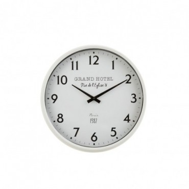 Horloge Grand Hotel Fer Blanc