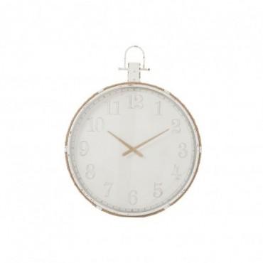 Horloge Ronde  Metal Blanc Taille L