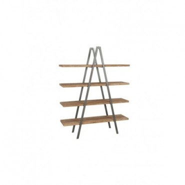 Etagere Triangle Bois Marron Noir