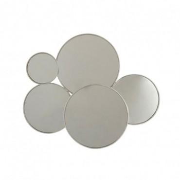 Miroir 5 Ronds Metal Argent