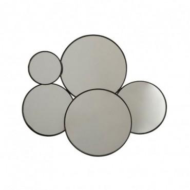 Miroir 5 Ronds Metal Noir