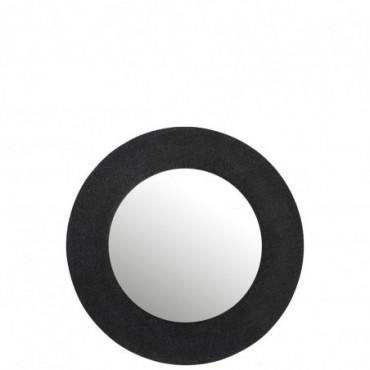 Miroir Effet Jute Aluminium Noir Taille L