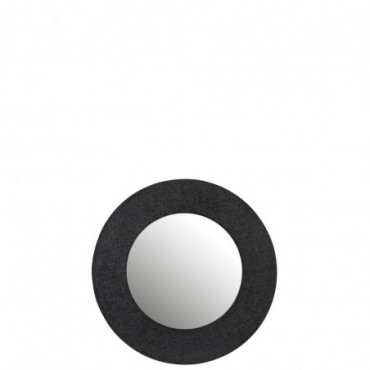 Miroir Effet Jute Aluminium Noir Taille S