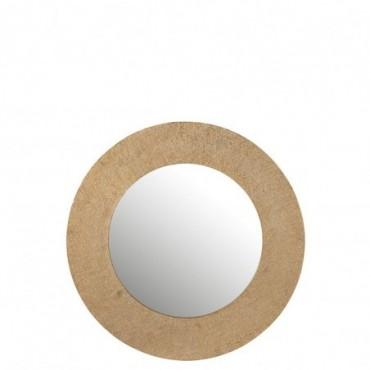Miroir Effet Jute Aluminium Or Taille L