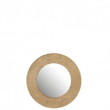 Miroir Effet Jute Aluminium Or Taille S