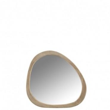 Miroir Irregulier Bois De Manguier Taille S