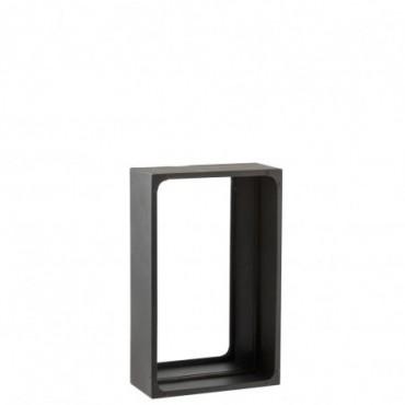 Miroir Niche Rectangulaire Metal Noir