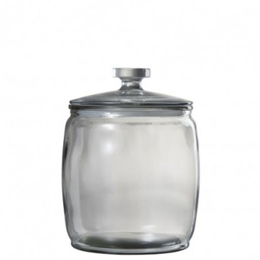 Pot A Provision Large Rond Verre Transparent Large