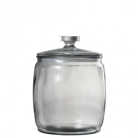Pot A Provision Large Rond Verre Transparent Large