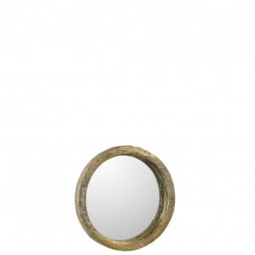Miroir Resine Or Taille S