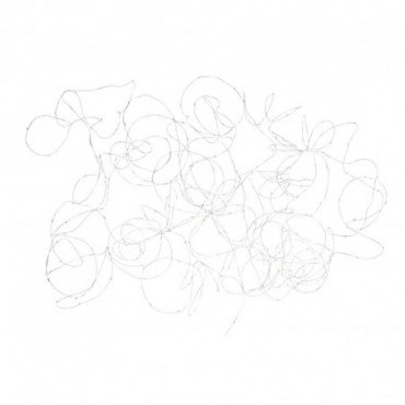 Guirlande Luminaire Fil Argent 300 Led Blanc Chaud