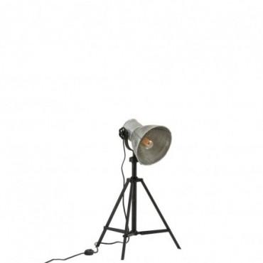 Lampe Ajustable Industrielle Metal Noir/Gris