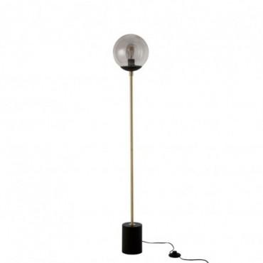 Lampe Boule Metal/Verre Noir/Or