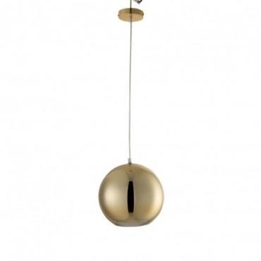 Lampe Boule Suspendue Verre Or Taille M