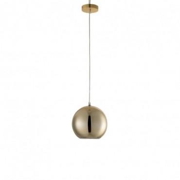 Lampe Boule Suspendue Verre Or Taille S