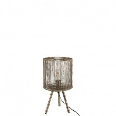 Lampe De Table Metal Rouille Marron Taille S