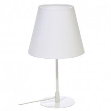 Lampe De Table Oblique Metal Blanc 23X39Cm
