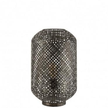 Lampe De Table Orientale Metal Noir