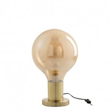 Lampe Globe Verre/Metal Or