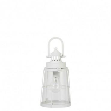 Lampe Led Piles Non Incluses Mia Metal/Verre Blanc