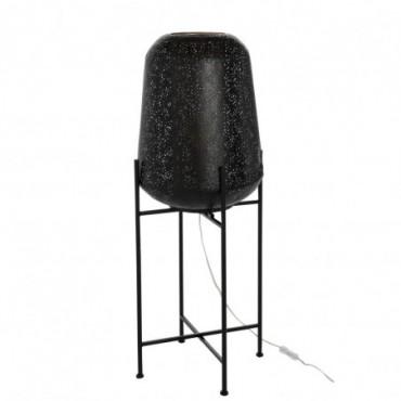 Lampe Orientale Fine Sur Pied Metal Noir Taille L