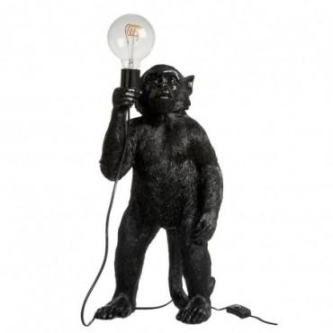 Lampe Singe Debout Resine Noir