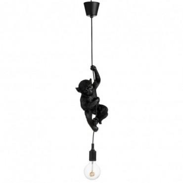 Lampe Singe Suspendue Resine Noir