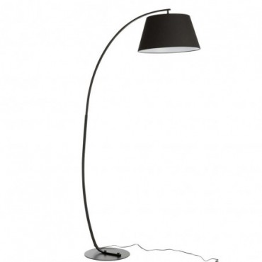 Lampe Sur Pied Arrondie Metal Noir