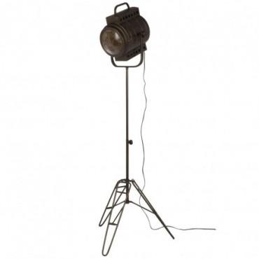 Lampe Sur Pied Film Metal/Verre Noir