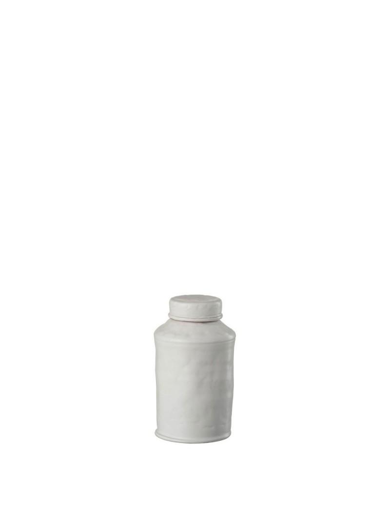 Pot A Provision Decoratif Ibiza Terre Cuite Blanc Small