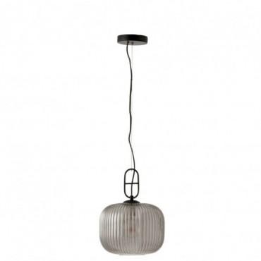 Lampe Suspendu Yufo Verre/Marbre Gris/Noir