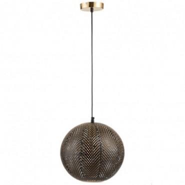 Lampe Suspendue Cavites Metal Or/Laque Noir