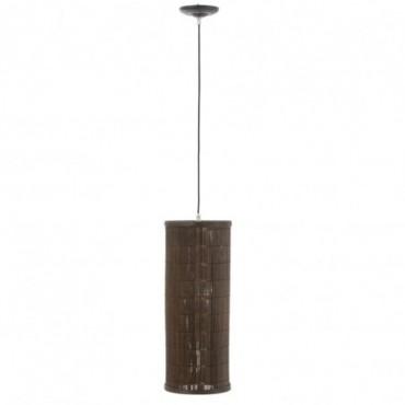 Lampe Suspendue Cylindrique Bambou Marron Taille L