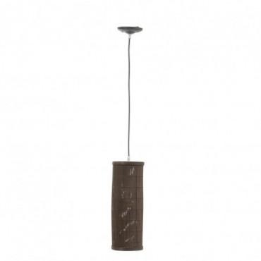 Lampe Suspendue Cylindrique Bambou Marron Taille S
