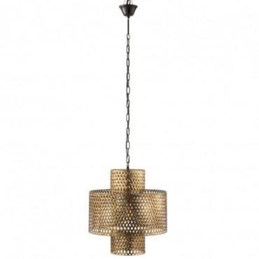 Lampe Suspendue Taille L Antique Zinc Or