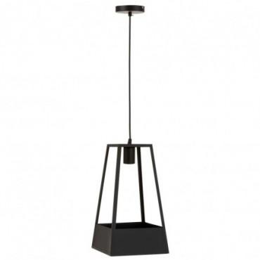 Lampe Suspendue Pot De Fleur Metal Noir