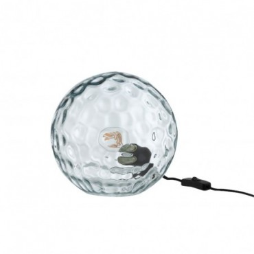 Lampe Table Bollie Verre Bleu Clair Taille S