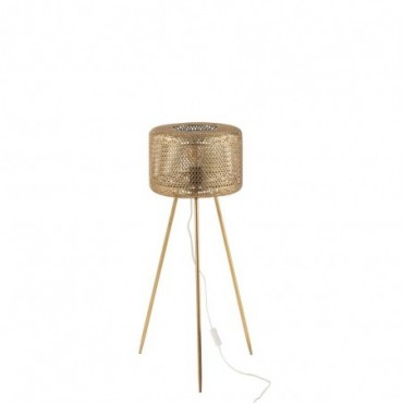Lampe Trepied Haute Metal Or Taille S