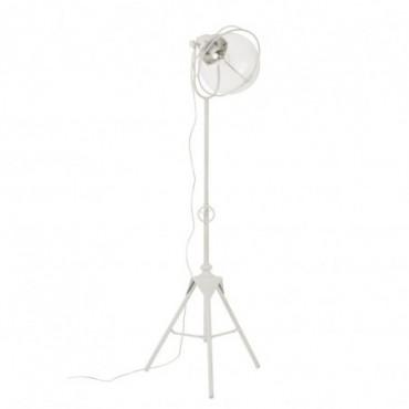Lampe Trepied Metal/Verre Blanc