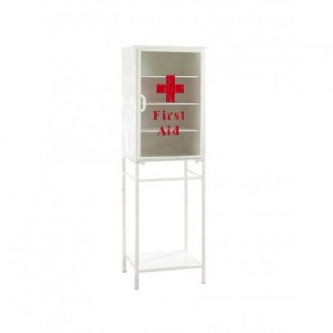 Armoire First Aid Metal Blanc Rouge