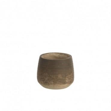 Cachepot Bord Terracotta Marron Taille L