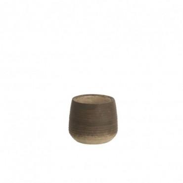 Cachepot Bord Terracotta Marron Taille S