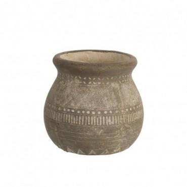Cachepot Ethnique Bord Terracotta Marron Taille L