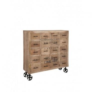 Armoire 2 0 Tiroirs Rectangulaire bois naturel